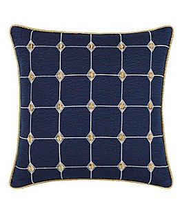 Image of candice OLSON Aureo Grid-Stitched Square Pillow