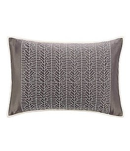 Image of candice OLSON Balsam Embroidered Satin Breakfast Pillow