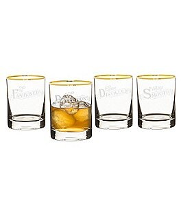 Image of Cathy's Concepts 4-Piece Old Fashioned Glass Set