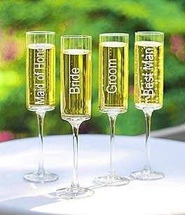 Image of Cathy's Concepts 8-oz. Wedding Party Champagne Flutes, Set of 4