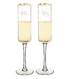 Image of Cathy's Concepts Gatsby Mr. & Mrs. Champagne Flutes