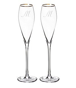 Image of Cathy's Concepts Initial Champagne Flutes, Set of 2