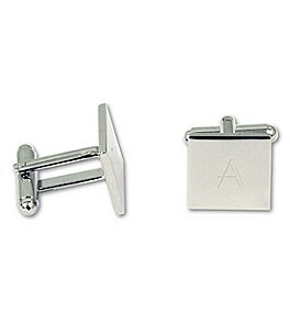 Image of Cathy's Concepts Initial-Engraved Square Cuff Links