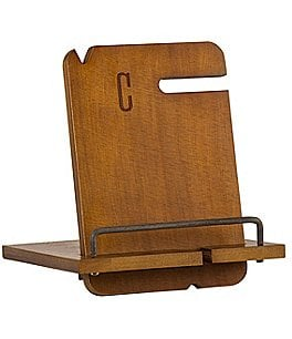 Image of Cathy's Concepts Initial Pine Wood Docking Station