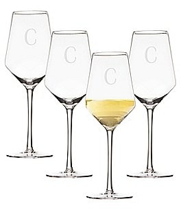 Image of Cathy's Concepts Initial White Wine Estate Glass Set of 4