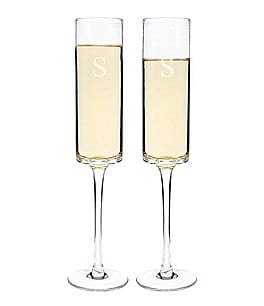 Image of Cathy's Concepts Personalized 8-oz. Contemporary Champagne Flute, Set of 2
