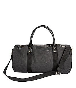 Image of Cathy's Concepts Initial Canvas & Leather Black Duffel Bag