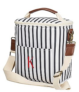 Image of Cathy's Concepts Personalized Striped Bottle Cooler