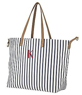 Image of Cathy's Concepts Personalized Striped Overnight Tote