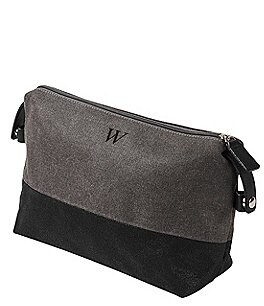 Image of Cathy's Concepts Personalized Two Tone Grey Dopp Kit