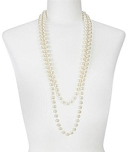 Image of Cezanne Faux-Pearl Continuous Necklace