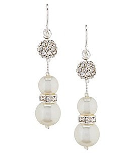 Image of Cezanne Faux-Pearl & Fireball Statement Earrings