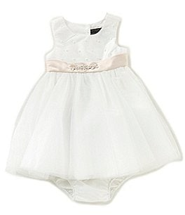 Image of Chantilly Place Baby Girls 12-24 Months Pearl Bodice Tulle Dress