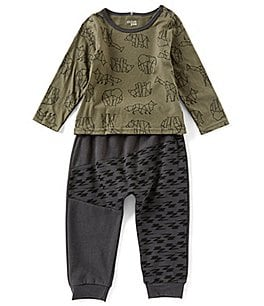 Image of Chick Pea Baby Boys 12-24 Months Constellation Safari Top & Jogger Set
