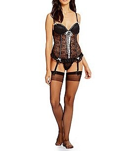 Image of Cinema Etoile 3-Piece Stretch Lace Bustier Set