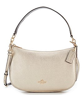 Image of COACH METALLIC CHELSEA CROSS-BODY BAG