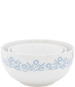 Image of CorningWare 60th Anniversary Cornflower 3-Piece Mixing Bowl Set