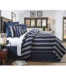 Image of Cremieux Andrew Striped Twill & Percale Comforter Mini Set