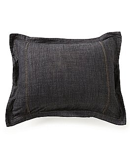 Image of Cremieux Black Denim Sham
