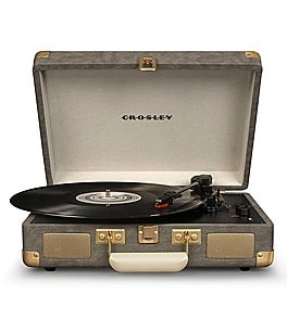 Image of Crosley Cruiser Deluxe Portable Turntable in Laurel Oak