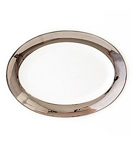 Image of Darbie Angell Monaco Platinum Oval Platter