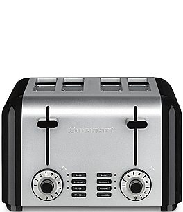 Image of Cuisinart Stainless Steel & Black 4-Slice Toaster