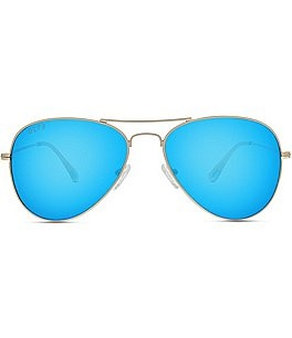 Image of DIFF Eyewear Cruz Polarized Mirrored Aviator Sunglasses