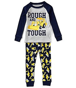 Image of Dream Life by Us Angels Little Boys 2-7 Rough Tough Top & Printed Pants Pajama Set