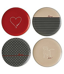 "Image of ED Ellen DeGeneres Crafted by Royal Doulton Signature Collection 4-Piece 8"" Accent Plate Set"