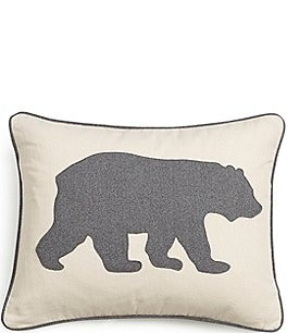 Image of Eddie Bauer Charcoal Bear Breakfast Pillow