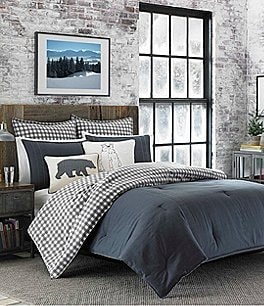 Image of Eddie Bauer Kingston Charcoal Duvet Mini Set