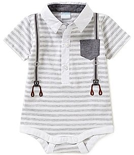 Image of Edgehill Collection Baby Boys Newborn-6 Months Striped Bodysuit