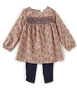 Image of Edgehill Collection Baby Girls 12-24 Months Made With Liberty Fabrics Top & Leggings Set