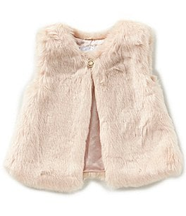 Image of Edgehill Collection Baby Girls 3-24 Months Faux-Fur Vest