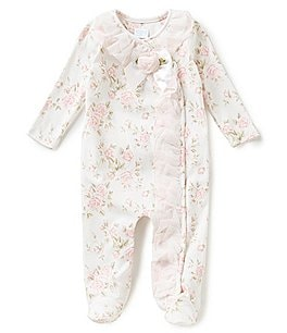 Image of Edgehill Collection Baby Girls Newborn-6 Months Floral Printed Footed Coverall