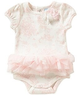 Image of Edgehill Collection Baby Girls Newborn-6 Months Floral Toile Bodysuit
