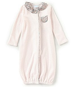 Image of Edgehill Collection Baby Girls Newborn-6 Months Liberty London Print Gown