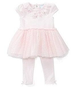 Image of Edgehill Collection Baby Girls Newborn-6 Months Tutu Top & Legging Set