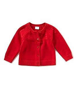 Image of Edgehill Collection Baby Girls Newborn-9 Months Button-Front Cardigan
