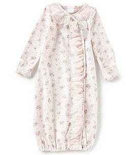 Image of Edgehill Collection Baby Girls Preemie-6 Months Floral Print Gown