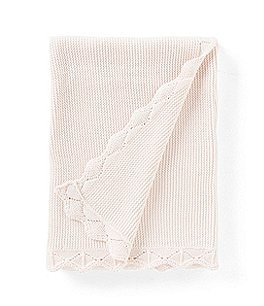 Image of Edgehill Collection Baby Girls Scallop-Trim Blanket