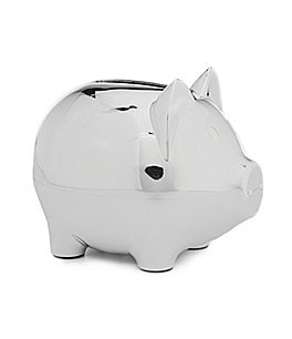 Image of Edgehill Collection Silver Piggy Bank