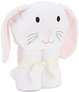 Image of Elegant Baby Girls Bunny Hooded Bath Towel