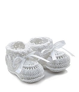 Image of Elegant Baby Crochet Booties