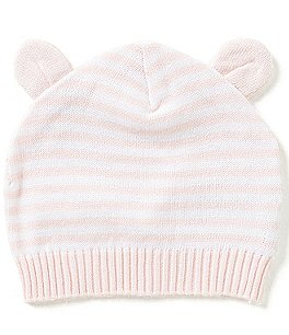 Image of Elegant Baby 3-12 Months Striped Knit Hat