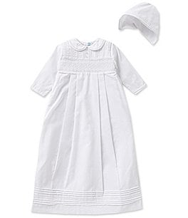 Image of Feltman Brothers Baby Boys Newborn-12 Months Christening Long-Sleeve Gown And Hat Set