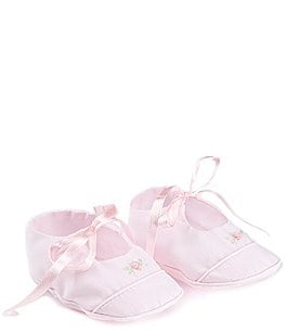 Image of Feltman Brothers Baby Girls' Mary Jane Rose Flower Detail Booties
