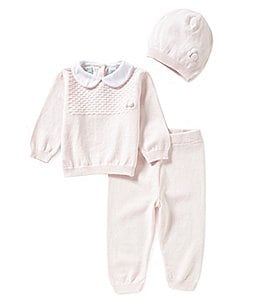 Image of Feltman Brothers Baby Girls Newborn-24 Months 3-Piece Sweater, Pants, and Hat Set