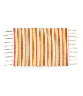 Image of Fiesta Cary Striped Braided Fringe Placemat