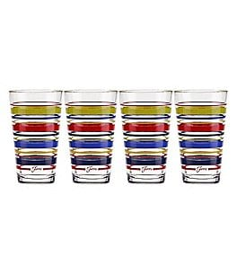 Image of Fiesta 4-Piece Farm Fresh Striped Cooler Glass Set